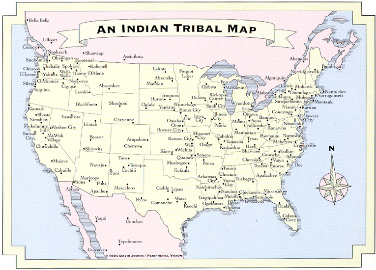Map of American Indian tribes whose names became those of states and ...